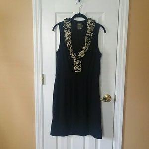 Taylor Ruffle V-neck Dress